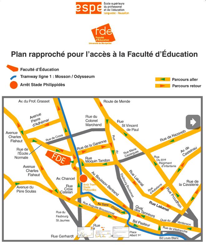 plan pour accès à la faculté d'éducation